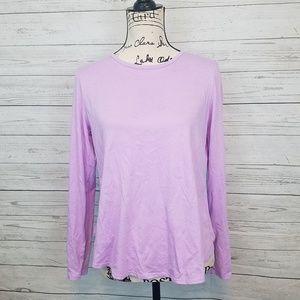 Fabletics Lilac Flyaway Back Long Sleeve Top